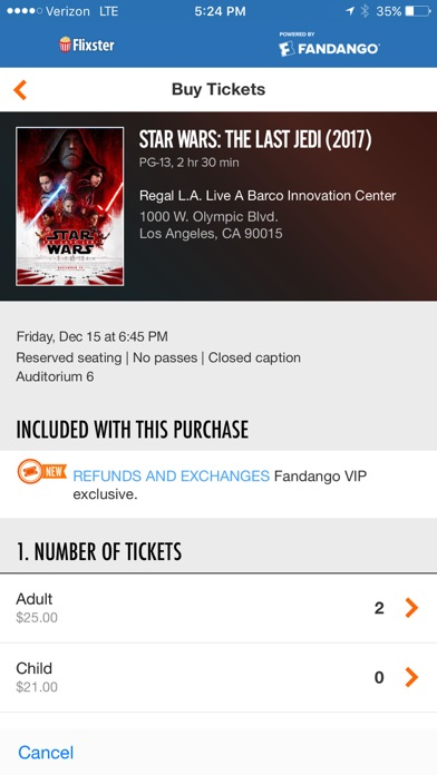 Screenshot 1 for Rotten Tomatoes's iPhone app'