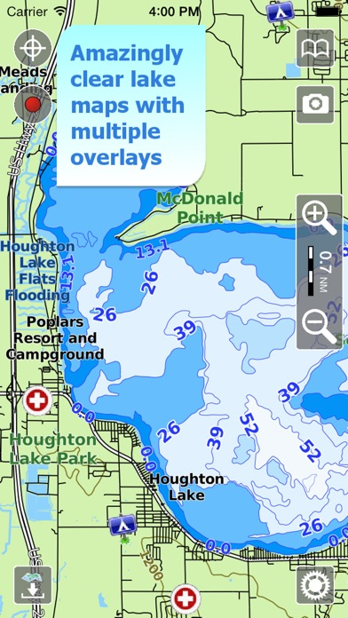 Aqua Map Michigan Lakes GPS On The App Store - Michigan lake maps