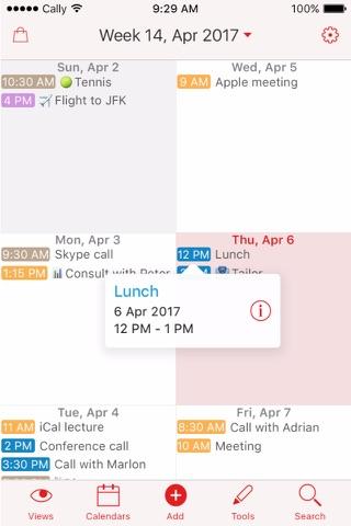 Week Calendar screenshot 1