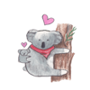 Cute Chubby Koala Sticker Wiki