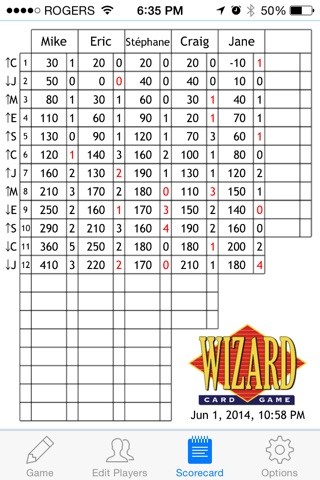 Wizard Scorecard screenshot 1