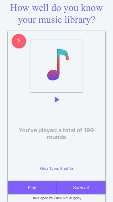 Music Quiz: Know Your Library? Screenshot