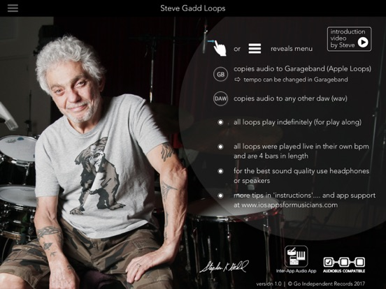 Steve Gadd Loops - App with Drum Loops and Fills by the One And Only Image