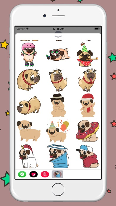 Funny Fatty Pugs Sticker review screenshots