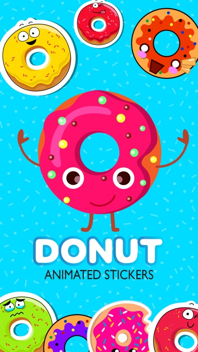 Animated Funny Donut Stickers review screenshots