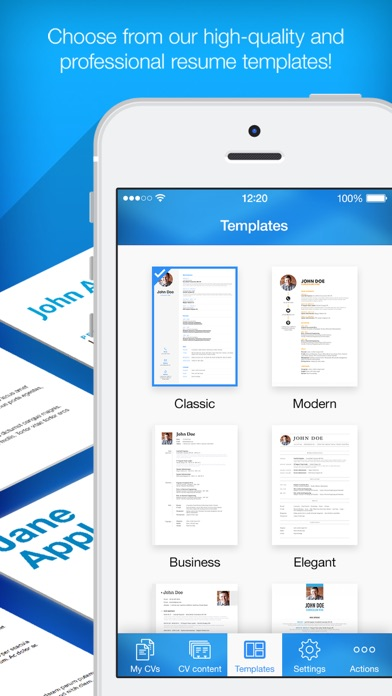 iphone screenshot 4 - Professional Resume Maker