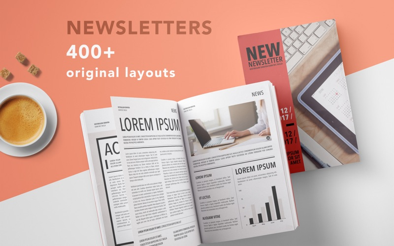 pages templates newsletter