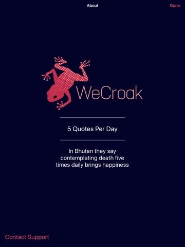 WeCroak screenshot 3