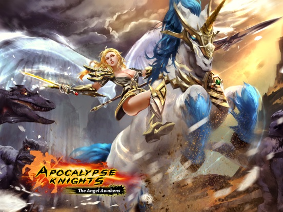 Screenshots of Apocalypse Knights - Endless Fighting with Blessed Weapons and Sacred Steeds for iPad