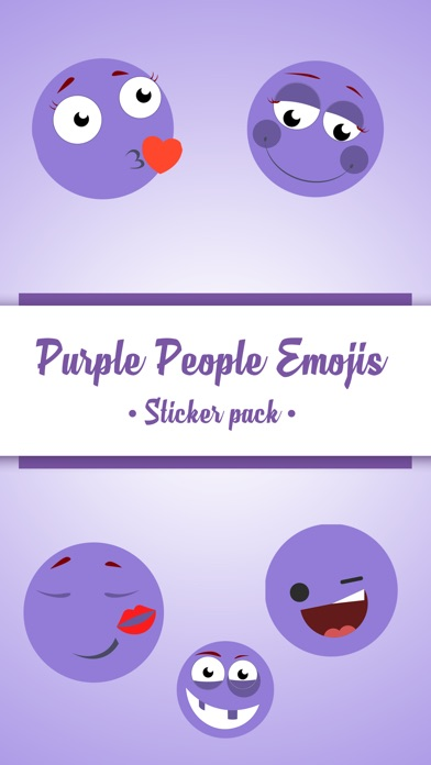 Animated Cute Purple Sticker screenshot 1