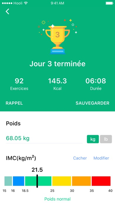 Préférence 30 Jours - Fitness Challenge dans l'App Store HE72