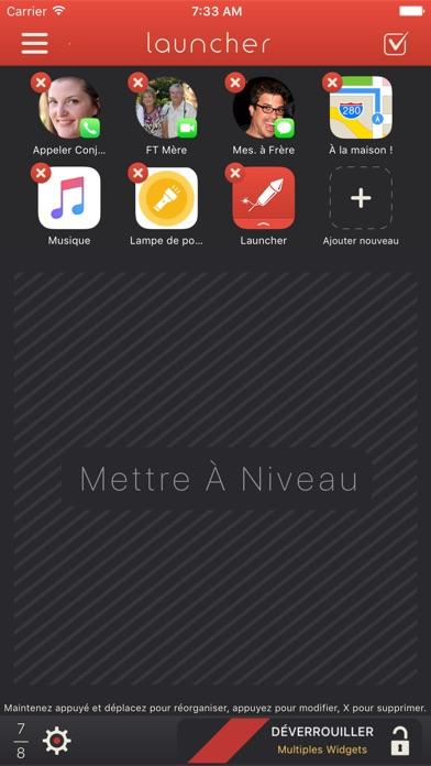 Launcher avec widgetCapture d'écran de 3