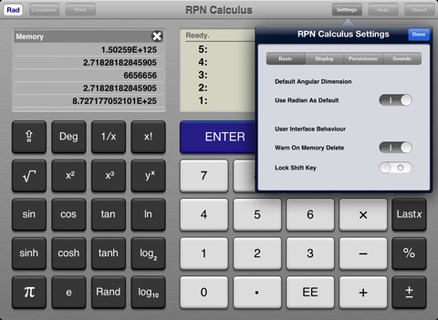 RPN Calculus screenshot 4
