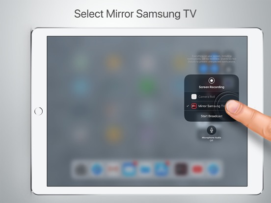 Mirror for samsung tv by airbeamtv bv for Miroir tv samsung