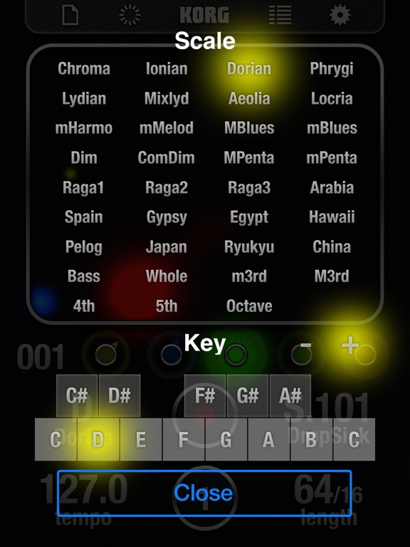 KORG iKaossilator Screenshots