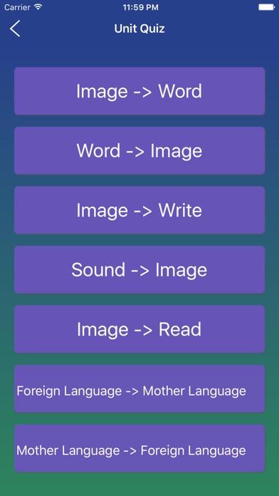 Japanese Word Flashcards Learn Screenshots