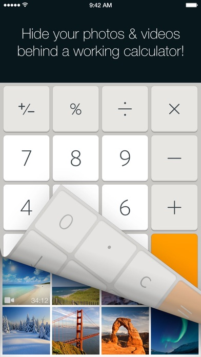 Secret Calculator Photo Vault: Lock, hide pictures screenshot 1
