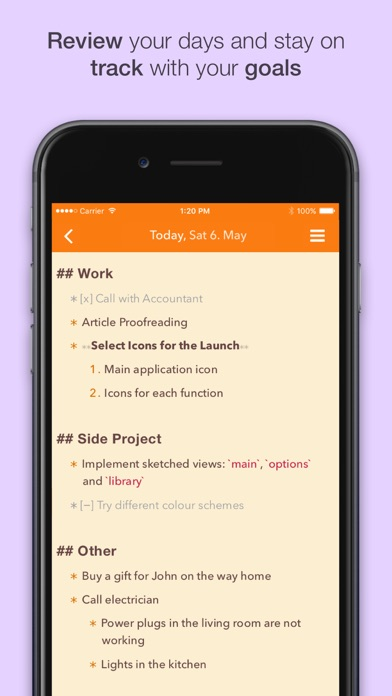 NotePlan: Markdown Todo-List, Notes and Calendar Screenshot 3