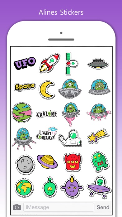 Aliens Stickers! screenshot 3