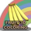 Fruit 3d Coloring fruit interactive