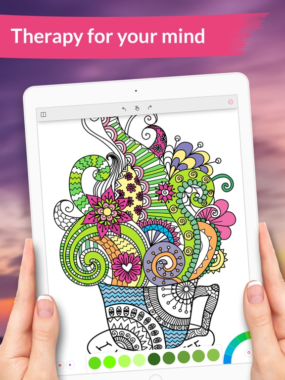 Colorgram Adult Coloring Book On The App Store