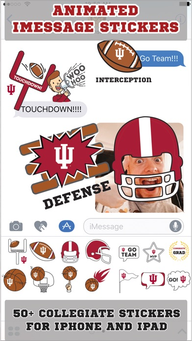 Indiana Hoosiers Animated+Stickers screenshot 1