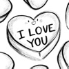 Drawn Candy Hearts