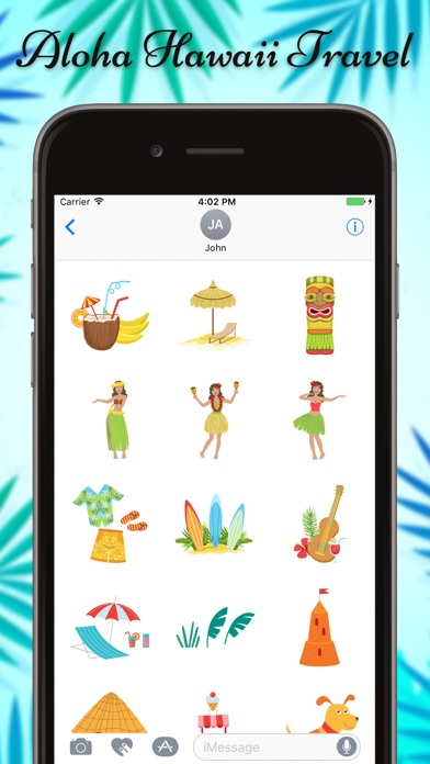 Hawaii Travel & Vacation Stickers screenshot 1