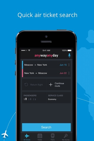Anywayanyday – flights, hotels screenshot 1