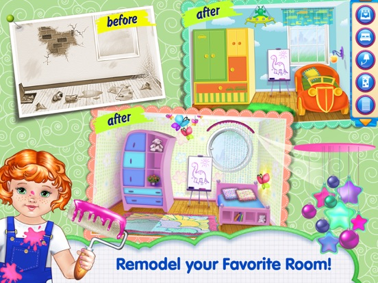 Baby room makeover app voor iphone ipad en ipod touch Room makeover app