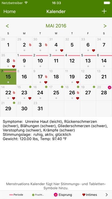 menstruations kalender lite free mac software. Black Bedroom Furniture Sets. Home Design Ideas