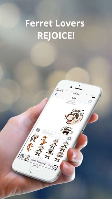 FerretEmoji - Ferret Emoji Keyboard And Stickers Screenshot