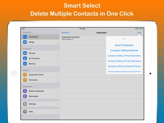 Remove duplicate contacts on the app store ipad screenshot 3 ccuart Image collections