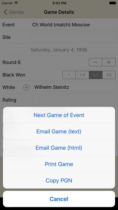 Chess Score Pad Скриншоты5