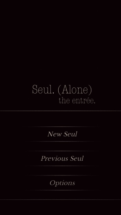 Seul.(Alone) The entrée - CYOA Screenshots