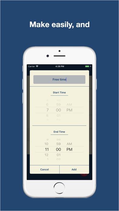 Daily planner, School Bell screenshot 2