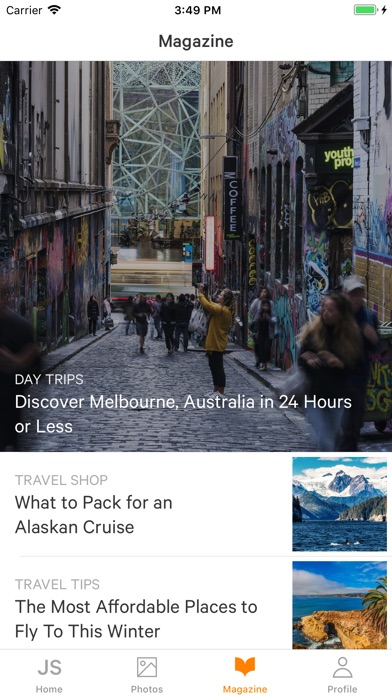 Screenshots of Jetsetter - Travel for iPhone