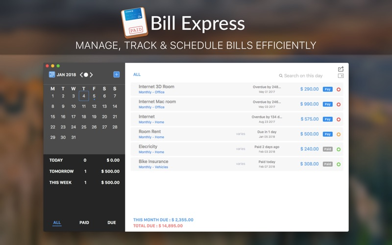 Bill Express Screenshots