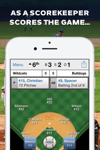 GameChanger Baseball Softball screenshot 1
