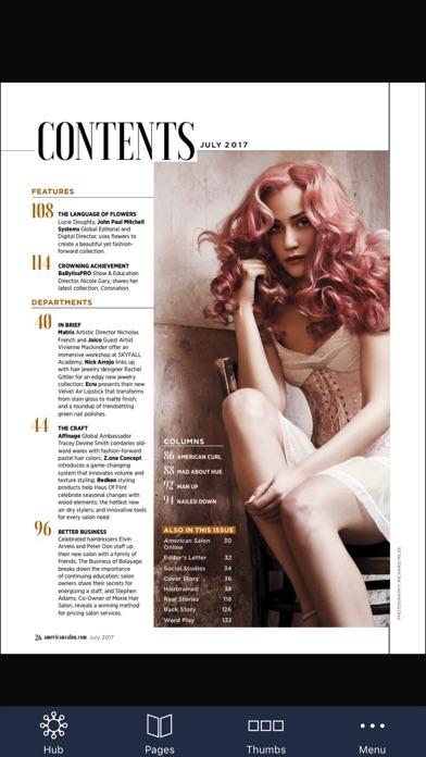 American Salon Magazine review screenshots