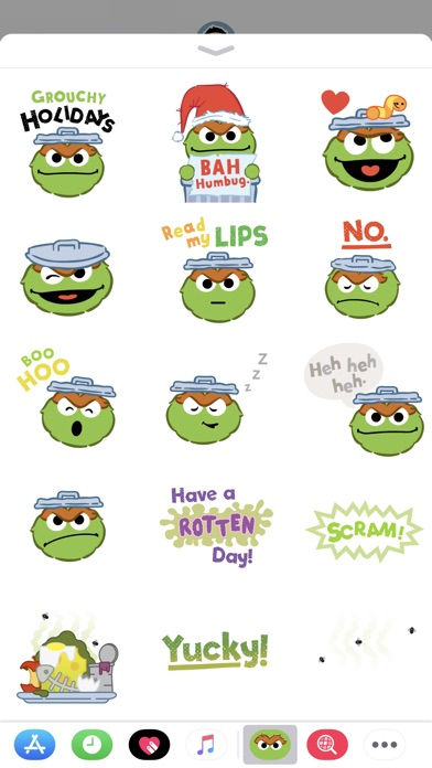 Oscar The Grouch Stickers review screenshots