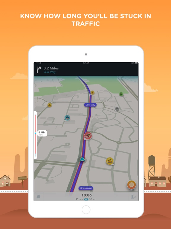 Waze Navigation & Live Traffic iPad
