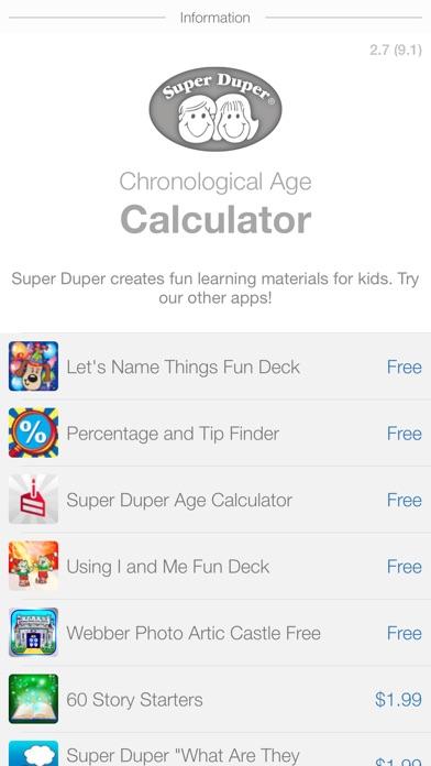 Super Duper Age Calculator On The App Store