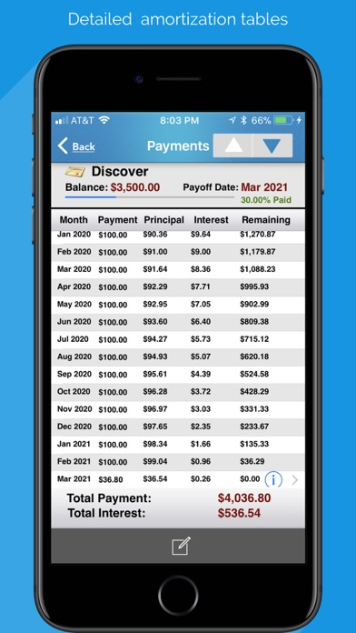 Debt Free - Pay Off your Debt Screenshots