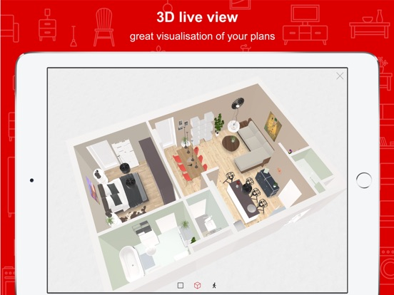iPad Screenshot 2. Roomle 3D   AR room planner on the App Store