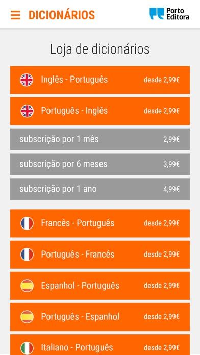 Screenshot of Dicionários Porto Editora App