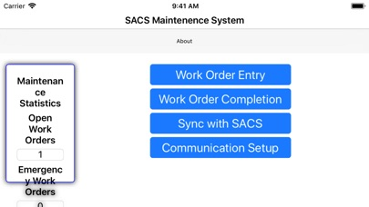 SACS Maintenance screenshot 1