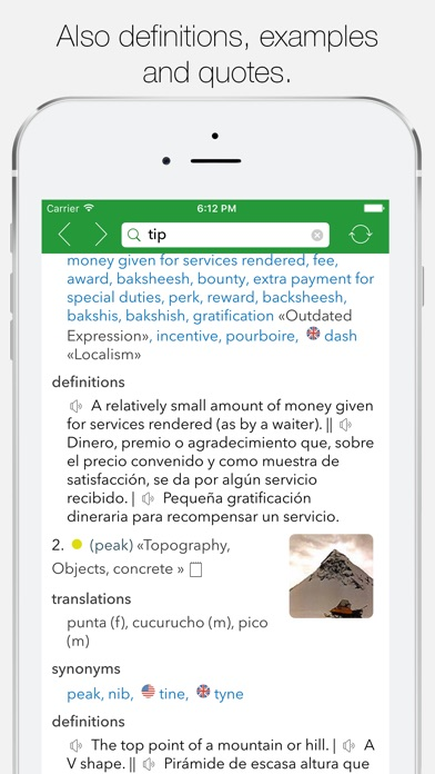 English Spanish Dictionary G. Screenshots