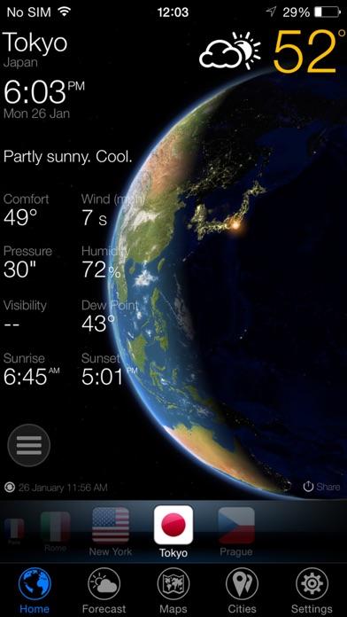 3D Земля - виджет погода Скриншоты5