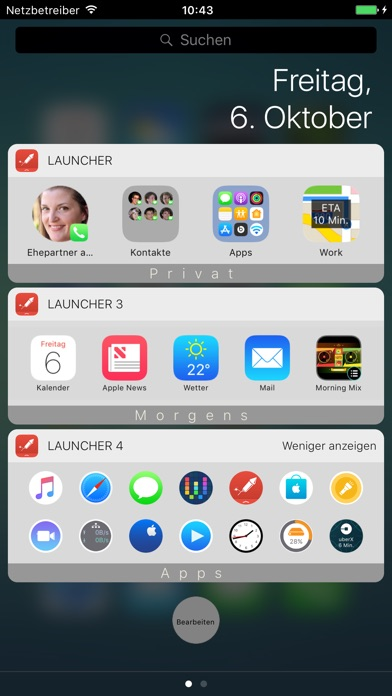 Launcher mit Widget Screenshot